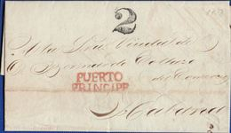 Spanish Colony Caribbean Area 1833 Letter From Puerto Principp To Havana 2003.1118 - España
