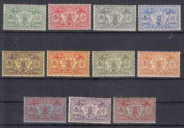 New Hebrides Nouvelles Hebrides 1911 Watermark Multiple CA Yvert#27-37 Mint Hinged - Unused Stamps