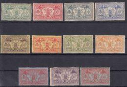 New Hebrides Nouvelles Hebrides 1911 Watermark RF Yvert#38-48 Mint Hinged - Unused Stamps