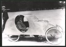 Photo Schostal,  Vue De Paris, Stromlinien Auto-vélo Avec Fussantrieb 1939 - Lieux