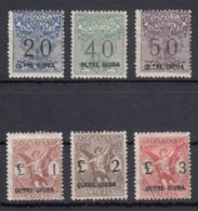 Italy Colonies Oltre Giuba 1925 Segnatasse Per Vaglia Sassone#1-6 Mint Hinged - Oltre Giuba
