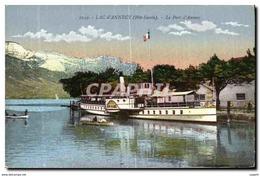 CPA Lac D Annecy Le Port D Annecy Bateau - Annecy