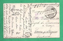 Carte Guerre 1915 Militaria Tours 9 Eme Region  Depot  De Prisonniers De Guerre  Krieggefangenen Sendung - Guerra 1914-18