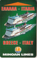 GREECE - Minoan Lines, Cabin Keycard, Used - Boats