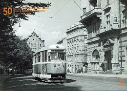 AK - Straßenbahn Tramway Tram - Karlovy Vary  Karlsbad - Tatra T1 1957 - Tramways