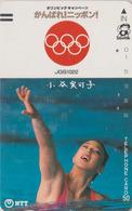 Télécarte Ancienne JAPON / NTT 390-049 - JO NATATION SYNCHRO Femme TBE - OLYMPIC GAMES Woman JAPAN Front Bar Phonecard - Olympische Spiele