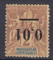 Madagascar 1902 Yvert#51a Error - Inverted Overprint, MNG - Unused Stamps