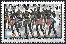Congo (Braz) 1964 - Mi 45 - YT 164 ( Folk Dance ) MNH** - Congo - Brazzaville