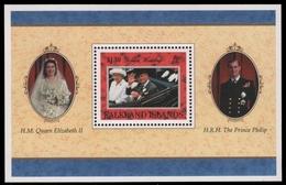 Falkland 1997 - Mi-Nr. Block 17 ** - MNH - Goldene Hochzeit - Falkland