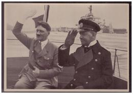 DT- Reich (008179) Propaganda Sammelbild Deutschland Erwacht Bild 145, Der Kanzler Und Admiral Raeder Bei Der Deutschen - Briefe U. Dokumente