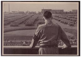 DT- Reich (008185) Propaganda Sammelbild Deutschland Erwacht Bild 156, Der Führer Spricht Zur SA, Dortmund 1933 - Briefe U. Dokumente