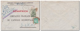 FRANCE - Lettre De La CFAO En Poste Navale Recommandée Du 21/4/1945 Destinataire SENAFRICA Abidjan Sénégal - Marcophilie (Lettres)