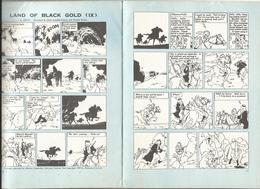 TINTIN HERGE Tintin Au Pays De L'Or Noir 3 PAGES DANS BUTTERLLY 1973 RARE - Bandes Dessinées