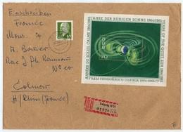 RDA - DDR / 1964  BLOC # 17 SUR LETTRE RECOMMANDEE POUR COLMAR (ref GF110) - [6] Democratic Republic