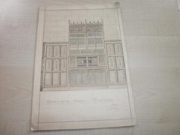 Ancien Dessin Original(signé) RELEVE D'ANCIEN MEUBLE WESTERLOO 1909 - Unclassified