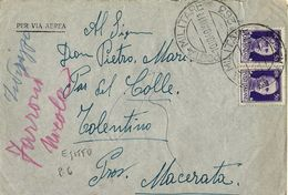 AEROGRAMMA POSTA MILITARE 263 1940 BUG BUG EGITTO X TOLENTINO - 1900-44 Victor Emmanuel III.