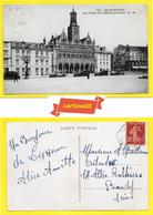 CPA 02 St QUENTIN  ♥️♥️☺♦♦ Place De L Hotel De Ville Animée Et Voitures 1935 ֎ - Saint Quentin