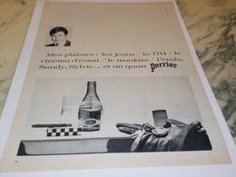 ANCIENNE PUBLICITE PERRIER MES PLAISIRS 1969 - Affiches