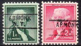 USA Precancel Vorausentwertung Preo, Locals New York, Armonk 745, 2 Diff. - Vorausentwertungen