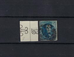 N°7 GESTEMPELD MET 4 MARGES COB € 9,00 SUPERBE - 1851-1857 Medallions (6/8)