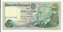 Portugal 20 Escudos 1978 Low Number - Portogallo