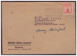 Dt- Reich (008495) Propaganda Brief, HJ, Salzburg Jugendwohnheim Mit Inhalt , 4 Quittungen, Anschreiben, Gel 22.4.1944 - Briefe U. Dokumente