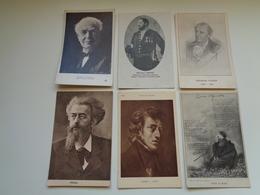 Beau Lot De 60 Cartes Postales De Personnes Célèbres Peintre  Poète Famille Royale écrivain Philosophe - 60 Scans - Cartes Postales