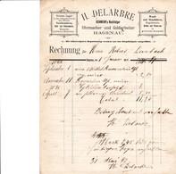 HAGENAU H DELARBRE SCHWEHR NACHFOLGER UHRMACHER UND GOLDARBEITER GROSSES LAGER TASCHENUHREN BESTECKE  ANNEE 1896 - France