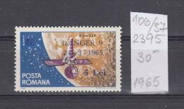 37K106 / 1965 - Michel  Nr. 2395  - OVERPRINT Ranger 9  Space Espace Cosmos ** MNH Romania Rumanien - 1948-.... Repubbliche