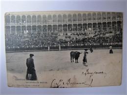 ESPANA - MADRID - Corrida De Toros - Entrando A Matar - 1904 - Madrid