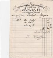 NIEDERMODERN GEORG DUTT GALTHAUS ZUM PTLUG STIETEL SCHUHMACHEREI  ANNEE 1898 - France