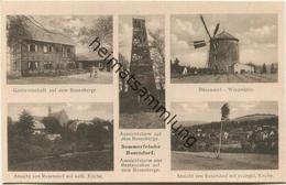Sommerfrische Rosendorf - Gastwirtschaft - Katholische Kirche - Windmühle - Aussichtsturm 40er Jahre - Tschechische Republik