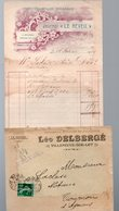 Villeneuve (Lot Et Garonne) Facture Illustrée  1909 LEO DELBERGE (le Réveil) Et Son Enveloppe D'expédition (PPP21969) - Canada