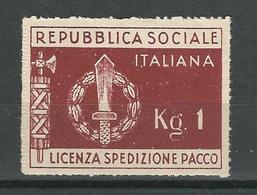 Franchigia Militare Repubblica Sociale Italiana MNH** - Ongebruikt