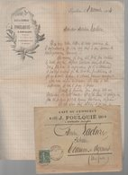 Espalion (12 Aveyron) Lettre à Entête FOULQUIE Caé Du Commerce Et Son Enveloppe D'envoi 1904 (PPP21970) - Canadá