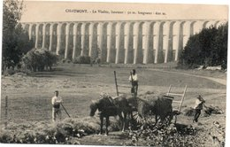 Chaumont Le Viaduc Attelage Ramassage Des Foins - Chaumont