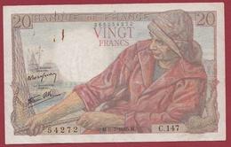 """20 Francs """"Pêcheur"""" Du 05/07/1945.M---TTB---ALPH .C.147 - 1871-1952 Anciens Francs Circulés Au XXème"""
