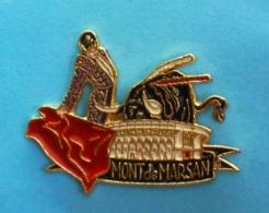 1 PIN'S //   ** ARÈNES / MONT DE MARSAN ** . (N'EMAUX) - Bullfight - Corrida