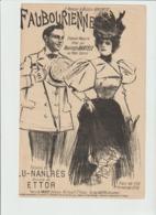 (MUSI2) FAUBOURIENNE ,  HENRIETTE DARTELE , Paroles LU NAULRES , Musique ETTOR - Partitions Musicales Anciennes
