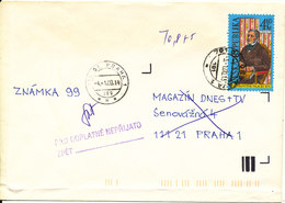 Czech Republic Underpaid Cover Praha 4-1-2000 Single Franked - Lettres & Documents