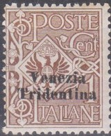 Italia VeneziaTridentina 1918 SaN°19 MNH/** Vedere Scansione - 8. WW I Occupation