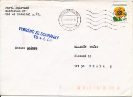 Czech Republic Underpaid Cover Pribram 16-1-2003 Single Franked - Lettres & Documents
