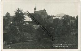Rosendorf - Katholische Kirche - Foto-AK Gel. 1943 - Tschechische Republik