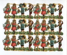 BEL Ensemble Chromos Decoupis ENFANTS  ENCORE ATTACHES Quasi Neuf Circa 1910 - Enfants