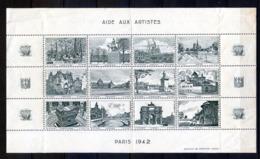 TIMBRES FRANCE, Feuille Vignettes PARIS 1942 - France