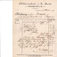 BRUMATH VON FR BUCHE FACTURE ÉCOLE DES FRUITS RECHUNG OBSTHAUMSCHULE ANNEE 1899 - France