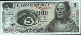 MEXICO - 5 Pesos 27.10.1971 {series 1AM-1AW} AU P.62 C(1) - Mexique
