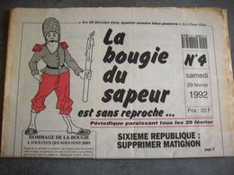 Journal 1992 ( La Bougie Du Sapeur ) N°4 - Journaux - Quotidiens