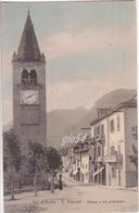 Aosta S. Vincent Chiesa E Via Principale Animata - Italy