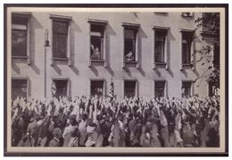 DT- Reich (008366) Propaganda Sammelbild Adolf Hitler Bild 21 Abordnung Aus Dem Saargebiet Vor Der Reichskanzlei - Lettres & Documents